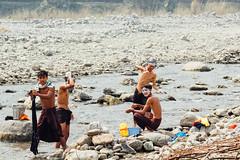 Boys Bathing and Washing in River, Saw Myanmar (AdamCohn) Tags: adam cohn burma chauk myanmar bath bathe bathing river streetphotographer streetphotography washing wwwadamcohncom adamcohn