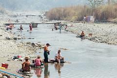 River Bathing Scene, Saw Myanmar (AdamCohn) Tags: adam cohn burma chauk myanmar bath bathe bathing laundry river streetphotographer streetphotography washing wwwadamcohncom adamcohn