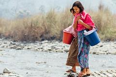 Girls Leaving River after Bathing, Saw Myanmar (AdamCohn) Tags: adam cohn burma chauk myanmar bath bathe bathing river streetphotographer streetphotography washing wwwadamcohncom adamcohn