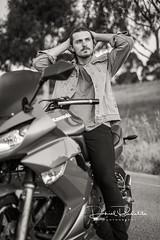 Isaac (Daniel Badelita Photography) Tags: kawasaki bike motorbike ride rider portrait professional portraiture photography photographer park photoshoot portraits melbourne melbournephotographer model models magazine male fashion canon5dmark3 canon5dmarkiii