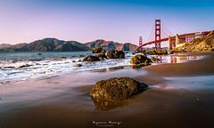 Golden Gate bridge at Sunset (EugeneClassyAlbum) Tags: sanfrancisco sunset travel sf goldengate bridge goldengatebridge ocean california californiabeach vacation sony sonya7 sonyphotography northerncalifornia marshallsbeach