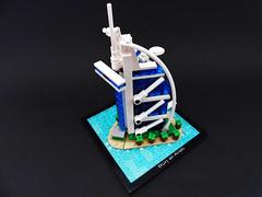 Burj al-Arab_4 (Jean Paul Bricks) Tags: lego legoarchitecture architecture legomoc moc microscale dubai burjalarab burj landmark