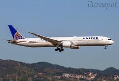 N12005 Boeing 787 United (@Eurospot) Tags: lebl barcelona n12005 boeing 787 787x united