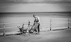 Whitby . (wayman2011) Tags: colinhart fujifilm50mmf2 fujifilmxt1 lightroom5 wayman2011 bw mono coast seaside promenades people northyorkshire whitby uk