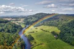 Yat Rock Rainbow (digitalCG) Tags: rainbow river yatrock wyevalley