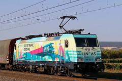 Bombardier 35300 - TRAXX F140 MS - Railpool Gmbh 'E 186 252' LINEAS / Meursault (jObiwannn) Tags: train ferroviaire locomotive traxx lineas fret