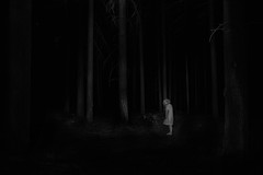apparition (the ripped bystander) Tags: blackwhite forest lady night