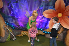 Florida Day 17 - 012a Magic Kingdom Town Square Theater Meeting Tinker Bell (TravelShorts) Tags: wdw walt disney world florida orlando magic kingdom disneys hollywood studios meet characters character greet meeting tinkerbelle tinker belle mickey mouse theatre town square funnel cake food dining caseys corner hot dog sofia first vampirina doc mcstuffins star wars bb8 galaxy far away one mans dream toy story land slinky dash andys lunchbox cinderellas royal table snow white ariel jasmine aurora happily ever after fireworks travel travelshorts day 17