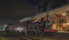 The Night Train (photofitzp) Tags: nightphotography smoke steam local coaches loughborough fowler lms lner gcr gresley 47406 timelineevents station suburban