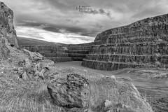 Abandoned Eldon. (miketonge) Tags: quarry limestone eldon castleton peakdistrict eldonquarry mono blackandwhite niksilverefexpro2 d750 nikon abandoned terraces rock