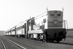 Israel Railways - Israel State Railways Class G12 diesel locomotive Nr. 123 and passenger train (HISTORICAL RAILWAY IMAGES) Tags: israel railways isr train locomotive g12 emd gm