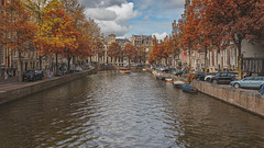 Amsterdam (pboolkah) Tags: red canon amsterdam northholland netherlands canon5d canon5dmkiv river canal trees ngc
