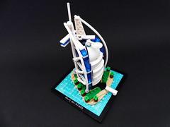 Burj al-Arab_3 (Jean Paul Bricks) Tags: lego legoarchitecture architecture legomoc moc microscale dubai burjalarab burj landmark