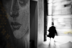 Pucker up (alideniese) Tags: streetphotography streetart rone lensbaby selectivecolour blur melbourne australia alideniese outandaboutwithandrewhaysom