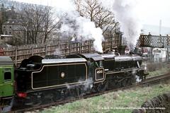 c.1970 - Haworth (K&WVR), West Yorkshire. (53A Models) Tags: keighleyworthvalleyrailway kwvr stanier lms britishrailways class5 black5 5mt 460 45212 preserved steam haworth westyorkshire trail railway locomotive railroad