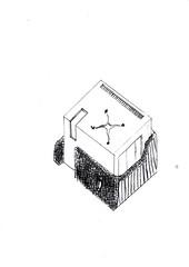 Haus (johannes.berger) Tags: modern haus steine mauer ost süd west nord fenster schwarz weis schwarzweis himmelsrichtung windrose gezeichnet