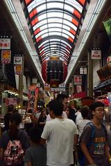 osaka1744 (tanayan) Tags: urban town cityscape osaka japan nikon v3 road street alley 大阪 日本 shopping kuromon 黒門市場 market