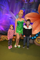 Florida Day 17 - 012d Magic Kingdom Town Square Theater Meeting Tinker Bell (TravelShorts) Tags: wdw walt disney world florida orlando magic kingdom disneys hollywood studios meet characters character greet meeting tinkerbelle tinker belle mickey mouse theatre town square funnel cake food dining caseys corner hot dog sofia first vampirina doc mcstuffins star wars bb8 galaxy far away one mans dream toy story land slinky dash andys lunchbox cinderellas royal table snow white ariel jasmine aurora happily ever after fireworks travel travelshorts day 17