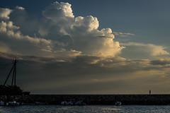 夏景色 #5ー Summer scenery #5 (kurumaebi) Tags: yamaguchi 秋穂 山口市 nikon d750 nature landscape dusk cloud 雲 夏 summer boat ship 船 sea 海