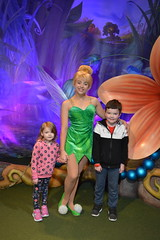Florida Day 17 - 012c Magic Kingdom Town Square Theater Meeting Tinker Bell (TravelShorts) Tags: wdw walt disney world florida orlando magic kingdom disneys hollywood studios meet characters character greet meeting tinkerbelle tinker belle mickey mouse theatre town square funnel cake food dining caseys corner hot dog sofia first vampirina doc mcstuffins star wars bb8 galaxy far away one mans dream toy story land slinky dash andys lunchbox cinderellas royal table snow white ariel jasmine aurora happily ever after fireworks travel travelshorts day 17