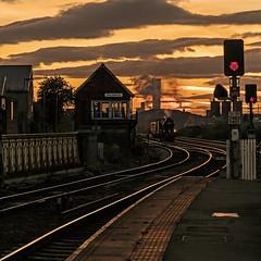 Returning Home (Kingmoor Klickr) Tags: gordonedgar k1 nelpg 62005 middlesbrough mainlinesteam signalbox sunset grosmont nymr
