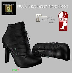 MLCC Skye Green Ankle Boots Ad Pic (Moonlitecat Creations) Tags: mlcc moonlitecat creations spoonful sugar event sos festival maitreya slink hourglass physique belleza freya iris venus ebody curvy fitmesh mid boots patchwork