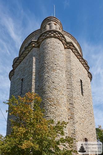 Im Innern vom Bismarckturm Ingelheim (Südwestseite)