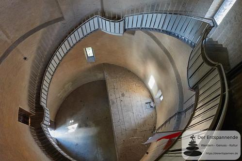 Im Innern vom Bismarckturm Ingelheim: 113 Stufen
