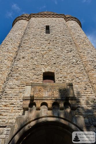 Bismarckturm Ingelheim (Südseite mit Eingang)