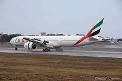 Emirates Boeing 777-31H(ER) 'A6-ENZ' LMML - 06.09.2019 (Chris_Camille) Tags: emirates ek uae ekuae 777 b777 b77w 777300er boeing spottinglog registration planespotting spotting maltairport airplane aircraft plane sky fly takeoff airport lmml mla aviationgeek avgeek aviation canon5d 5dmk4 70200mm28 canonef canon livery myphoto myphotography