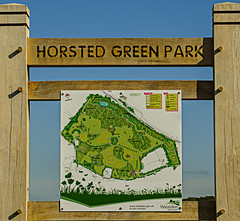 Horsted Green Park Sign (ianbartlett) Tags: outdoor 365 wildlife nature landscape birds plants trees flowers sky flight monochrome sign