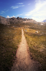 The Path to the Mountains (Oash_Dany) Tags: italy cielo montagna paesaggio nuvola crepuscolo calma shadows sonyalpha sunnyday clouds cloudy beautiful colors sony outside cloud color paysage nuvole orange day dynamic long exposure roccia sunrise mountain alps alpi