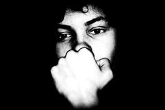 daydreaming (Gerrit-Jan Visser) Tags: blackandwhite bnw daydreaming face hand harsh portrait eyes boy lowkey