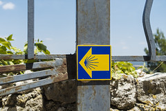 Camino Sign (oz_lightning) Tags: europe france provencealpescotedazur sonyrx100iii ventabren culture geography information sign tourist