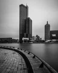 Maastoren II (s.W.s.) Tags: cityscape city skyscraper architecture building urban buildings water rotterdam netherlands holland sky longexposure neutraldensity maastoren blackandwhite bw nikon lightroom