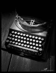 The old machine (Lionel Davoust) Tags: bokeh keyboard writing machine remington item mono typewriter blackandwhite object portraitmode ravières france
