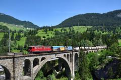 Solis (Paolo Brocchetti) Tags: paolobrocchetti solis nikon d810 24120 treno merci ferrovia bahn rail ponte rhb grigioni svizzera
