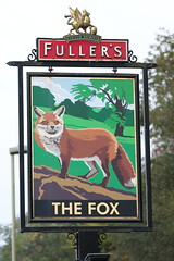 The Fox pub sign Newfound Hampshire UK (davidseall) Tags: the fox pub pubs sign signs inn tavern bar public house houses newfound basingstoke hampshire uk hanging gb british english gbg gbg2016