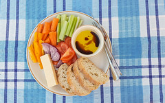 Lunch (Mandy Willard) Tags: 365 1409 celery carrot petter onion tomato cheddar ciabatta olive oil balsamic