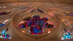 Rose Window at The National Cathedral (jtgfoto) Tags: nationalcathedral washington washingtondc cathedral architecture architecturalphotography sonyalpha rokinon12mm rokinon stainedglass rosewindow rowanlecompte artwork color coloredglass