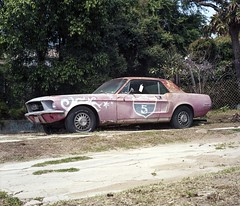 I-5 Mustang (ADMurr) Tags: california i5 los angeles echo park mustang ford rolleiflex f 28 kodak ektar 80mm zeiss planar dad052
