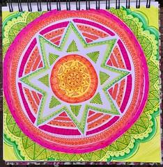 Bright Neon Mandala Doodle (stashheap) Tags: mandala brightcolors doodles