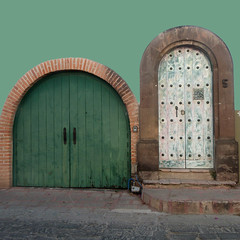 guadiana facade (msdonnalee) Tags: facade facciate fachada façade méxico mexique mexiko messico door photosfromsanmigueldeallende colorfx