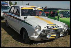 GC9_8924_edit (ladythorpe2) Tags: ferrari 156 reims gueux legende historic meeting 15th september 2019 lotus cortina mk 1 yellow stripe green white