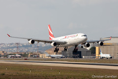 Air Mauritius Airbus A340-313 '3B-NBD' LMML - 06.09.2019 (Chris_Camille) Tags: spottinglog registration planespotting spotting maltairport airplane aircraft plane sky fly takeoff airport lmml mla aviationgeek avgeek aviation canon5d 5dmk4 70200mm28 canonef canon livery myphoto myphotography airbus a340 a340300 airmauritius 3bndb
