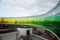 Aarhus skyline og alt det triste nedenunder (mgfoto2011) Tags: leicam4 summicron35mmf2 film fujicolorc200farvenegativ c41 selfdeveloped aarhus artmuseum aros minoltascanmultipro