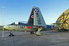 Royal Navy, Sea Hawk WV798 at a nightshoot at Cornwall Aviation Heritage Centre (JetPhotos.co.uk) Tags: aircraft bobsharples cahc cornwallaviationheritagecentre newquay nightshoot thresholdaero airport planes wwwjetphotoscouk daynight twilight airfield photography photoshoot september 2019 royalnavy seahawkwv798 hawker rn fleetairarm faa jet fighter helston cornwall uk