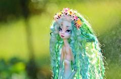 Rainy day (Lorena Firefly) Tags: bjd balljointeddoll doll dollfie dollchateau dollchateaubeatrice fairy dragonfly fairytale garden nature bokeh green rain bokehphotography