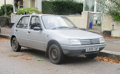 1993 Peugeot 205 Style D (occama) Tags: l655taf 1993 peugeot 205 style diesel old car cornwal uk silver french bangernomics cornish
