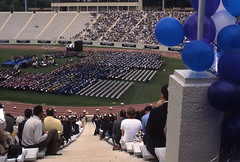 Commencement, 1999 (Duke University Archives) Tags: dukeuniversity commencement graduation durham nc wallacewadestadium balloons crowd